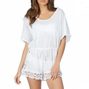 Lush Lace Romper Cover-up NWT Size Medium
